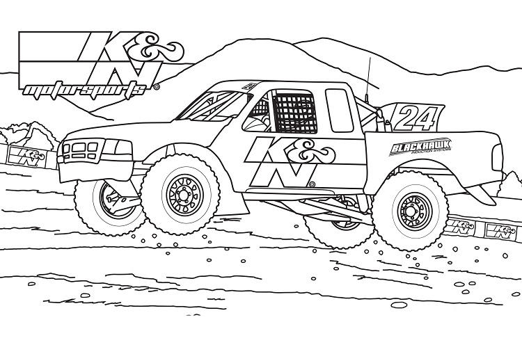 Diesel Truck Coloring Pages