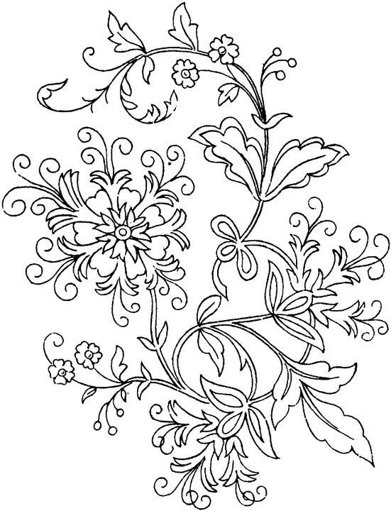 Difficult Coloring Pages For Adults Abstract Flowers