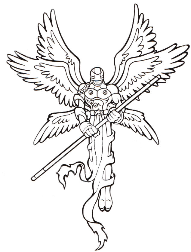 Digimon Coloring Pages Angemon