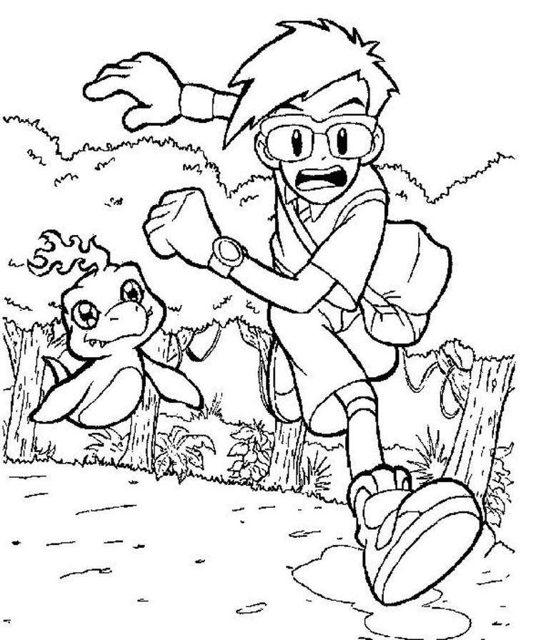 Digimon Coloring Pages Joe
