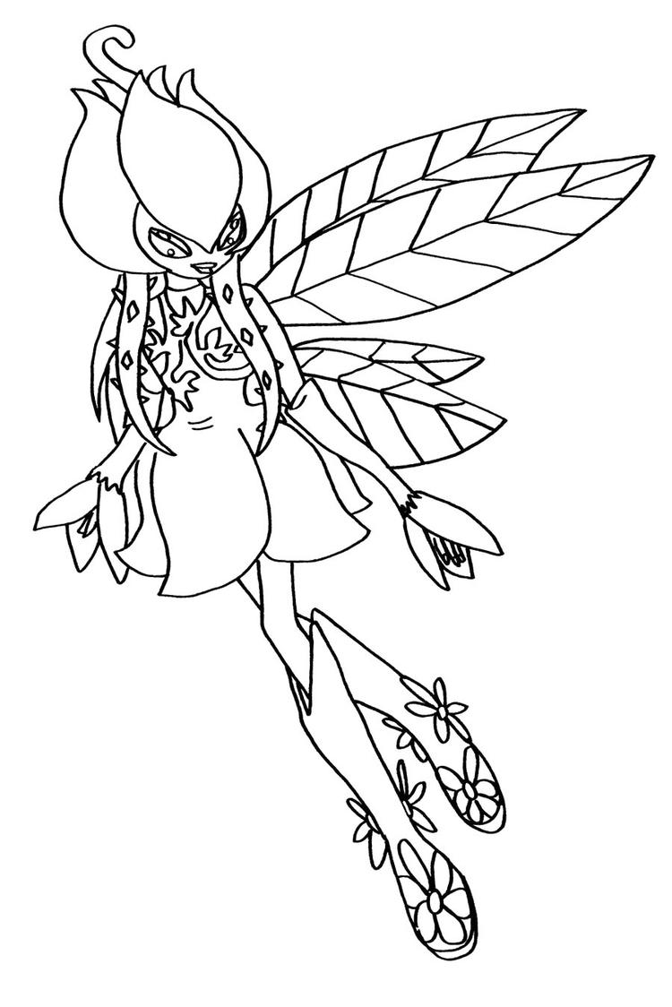 Digimon Coloring Pages Palmon Evolution Lilymon