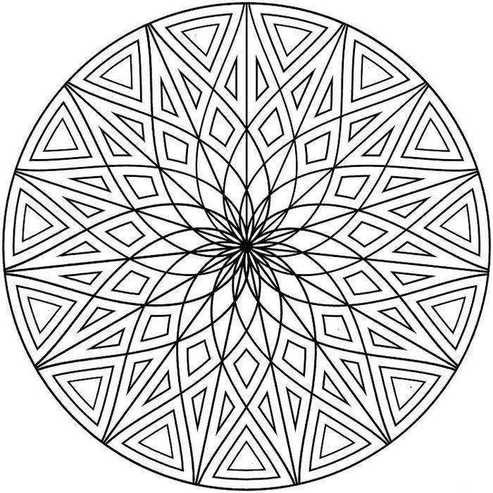 Dimentional Geometric Coloring Pages