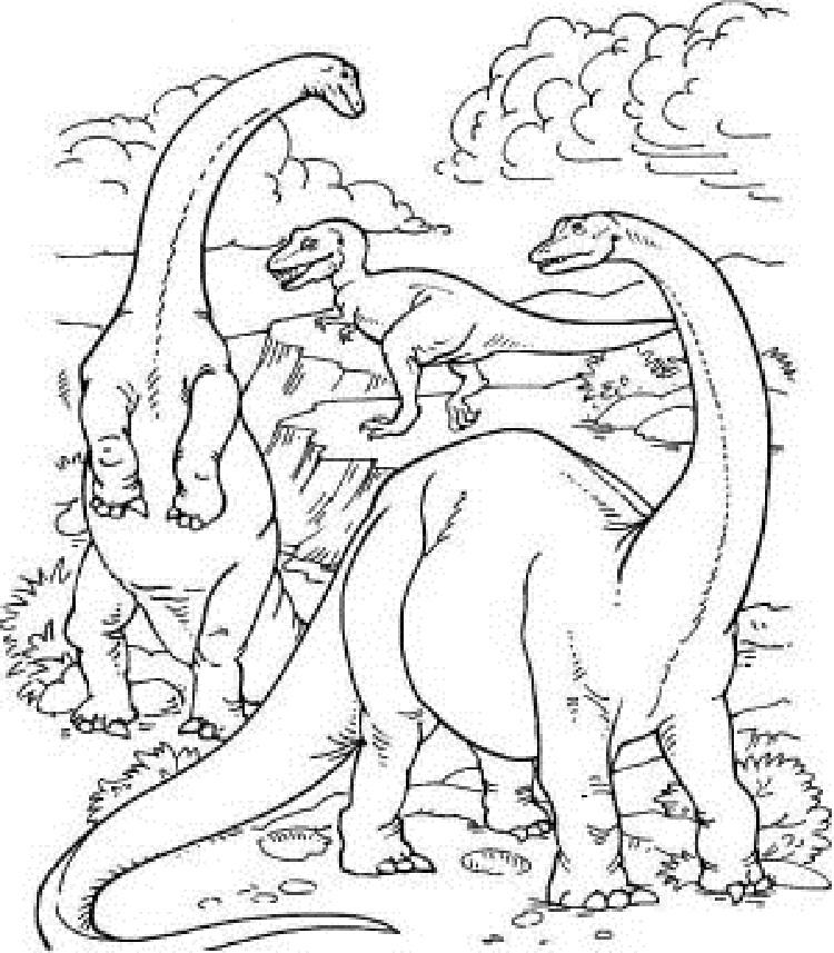 Dinosaur Coloring Activity Pages