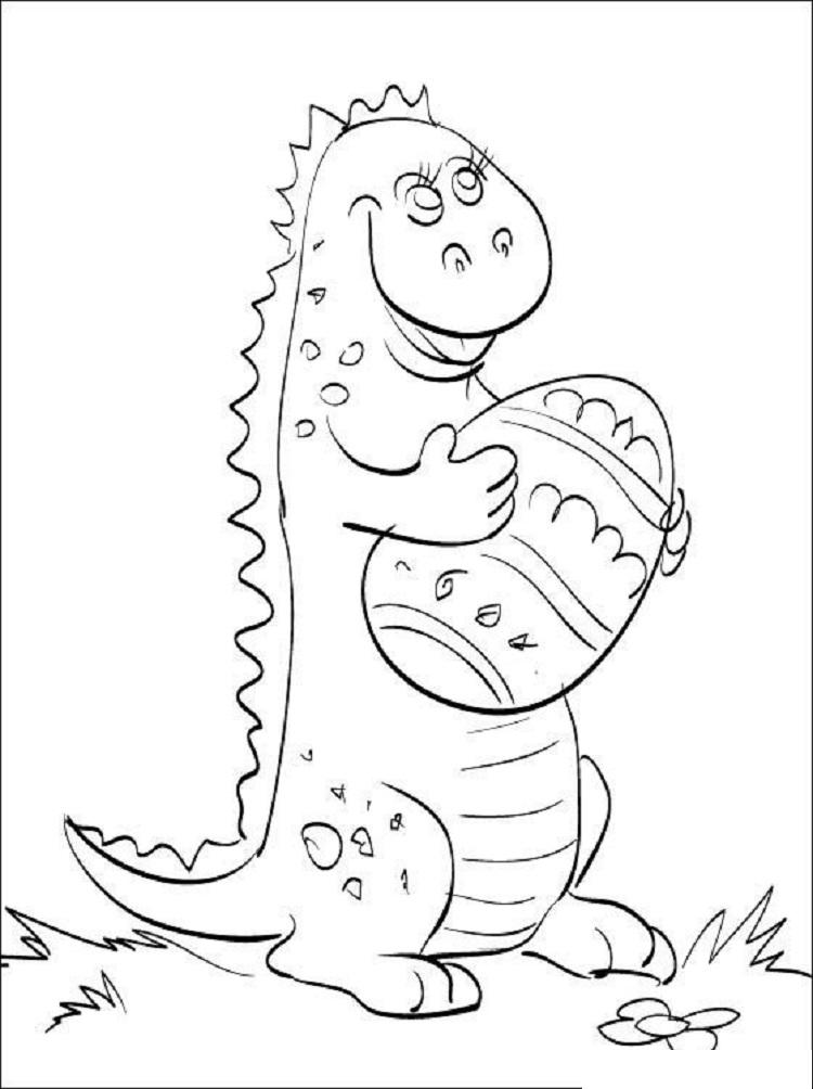Dinosaur Easter Coloring Pages
