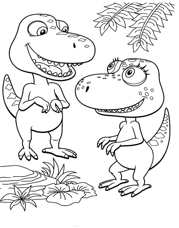 Dinosaur Train Coloring Pages Buddy And Annie