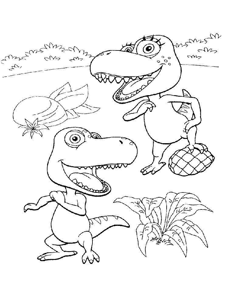 Dinosaur Train Coloring Pages For Kids Printable - Coloring ...