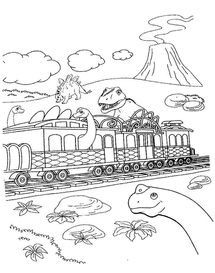 Dinosaur Train Coloring Pages Free