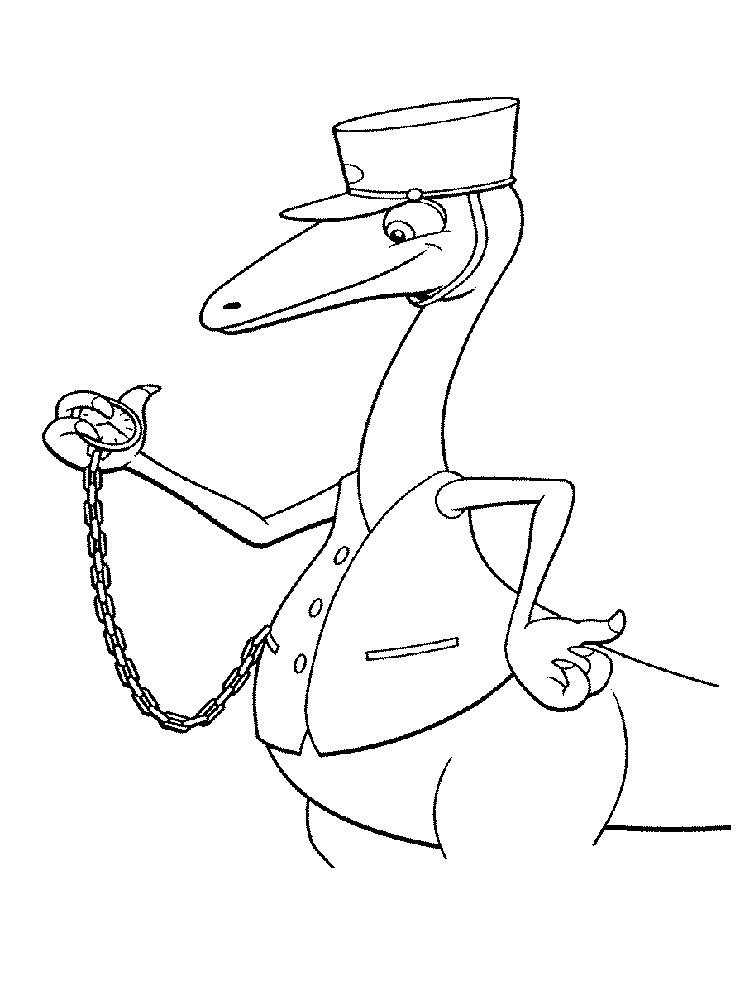 Dinosaur Train Coloring Pages Mr Conductor - Coloring Ideas