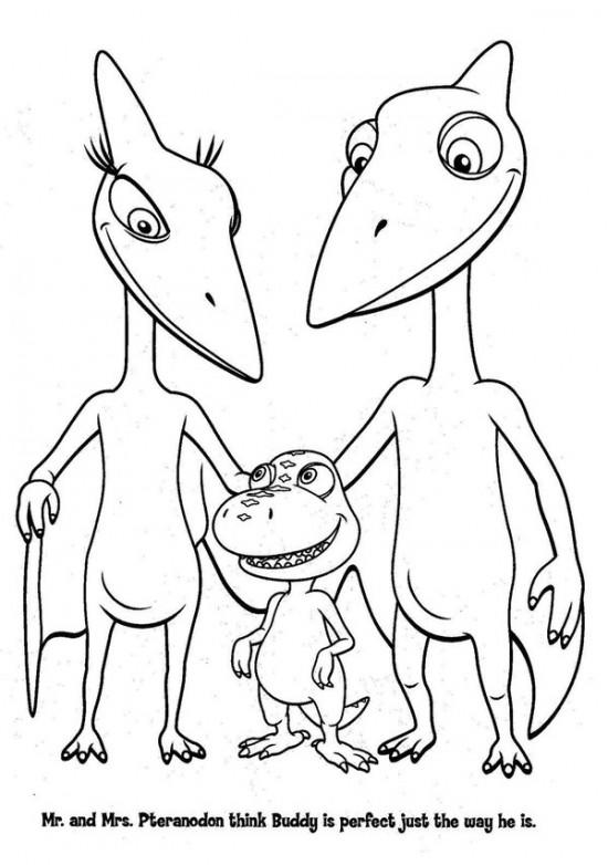 Dinosaur Train Coloring Pages Print Out