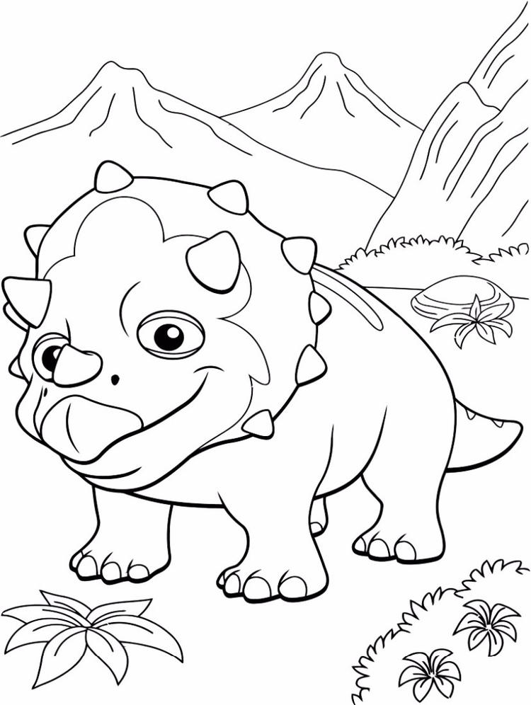 Dinosaur Train Coloring Pages Tank