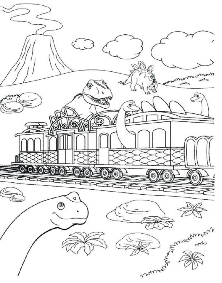 Dinosaur Train Halloween Coloring Pages