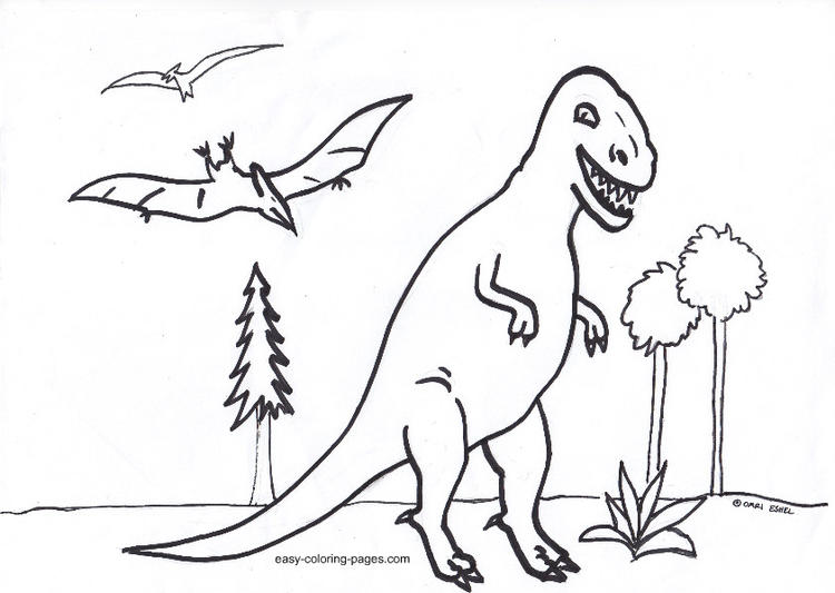Dinosaurs Coloring Pages For Toddler