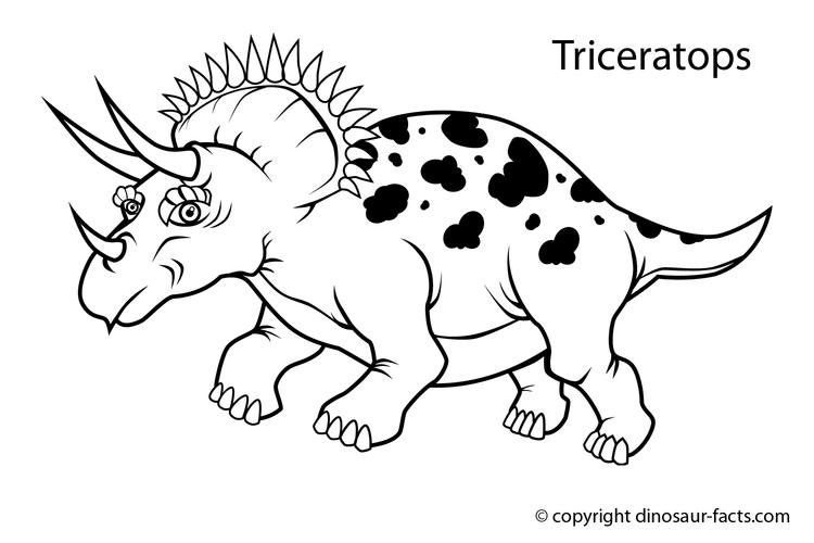Dinosaurs Coloring Pages With Names For Kids
