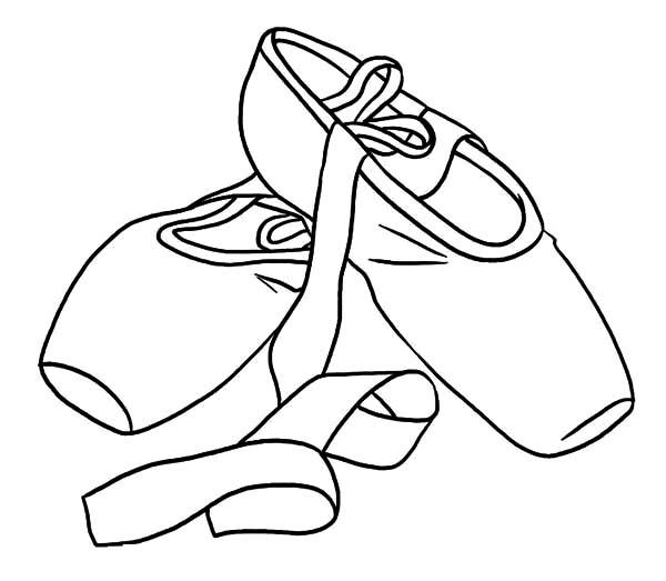 Dirty Ballerina Shoes Coloring Pages