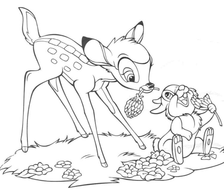 Disney Bambi Coloring Pages Printable