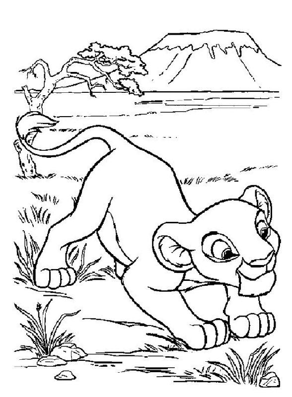 Disney Cartoon Coloring Pages For Kids Lion King