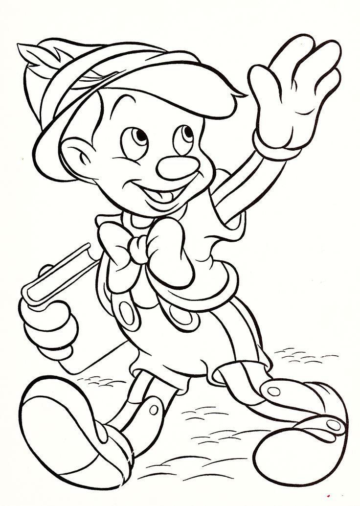 Disney Characters Coloring Pages Pinocchio