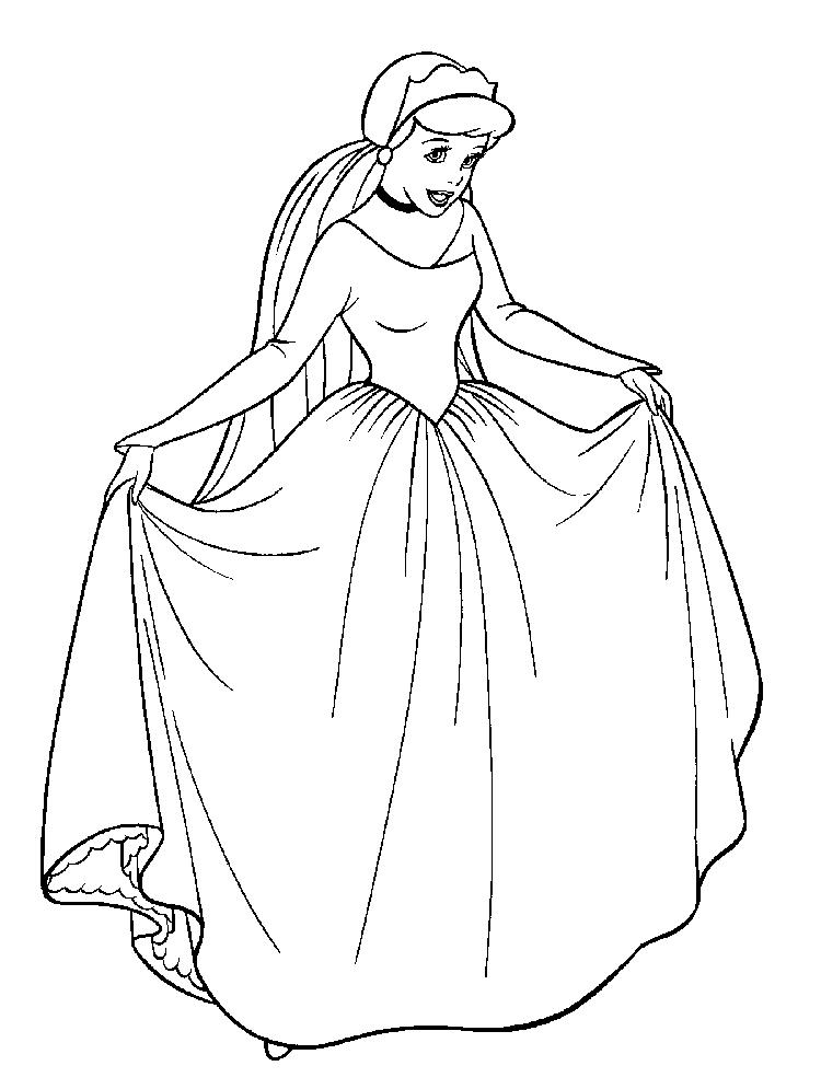 Disney Cinderella Coloring Pages For Kids