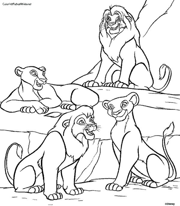 Disney Coloring Pages Lion King Family 1