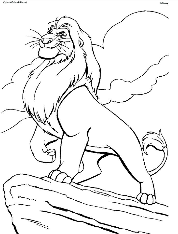 Disney Coloring Pages Lion King For Kids