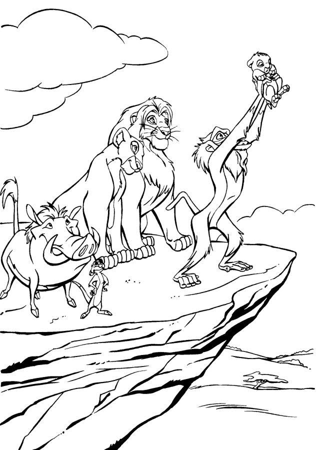 Disney Coloring Pages Lion King Images