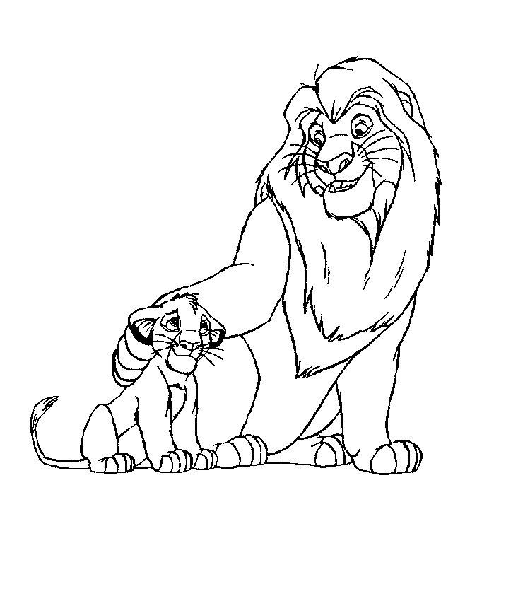 Disney Coloring Pages Lion King To Print Out