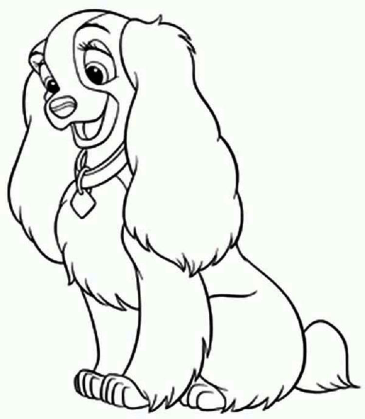 Disney Dog Coloring Pages