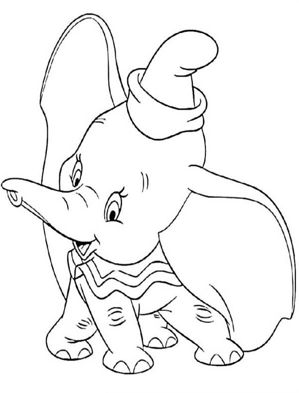 Disney Dumbo The Elephant Coloring Pages