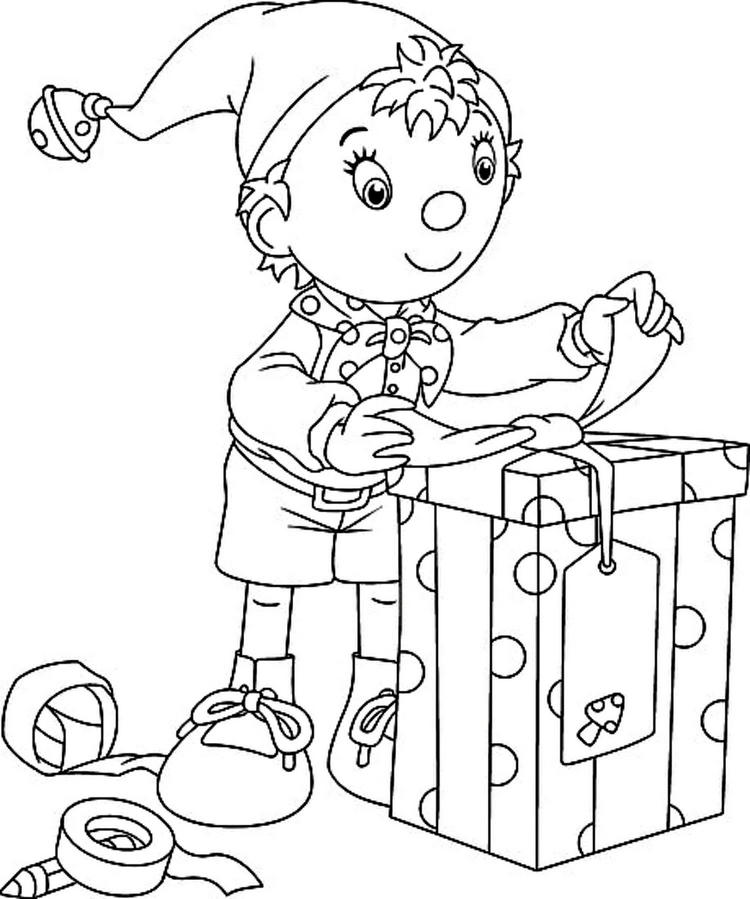 Disney Elf Coloring Page Elf On The Shelf Packages Gifts Coloring Page