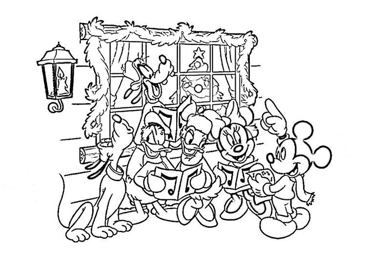 Disney free coloring pages for christmas