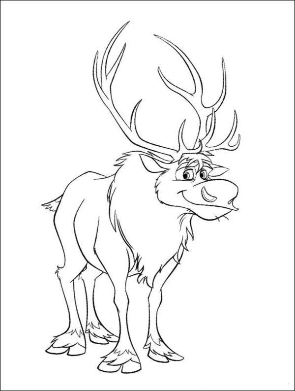 Disney Frozen Sven Colouring Pages Print Out