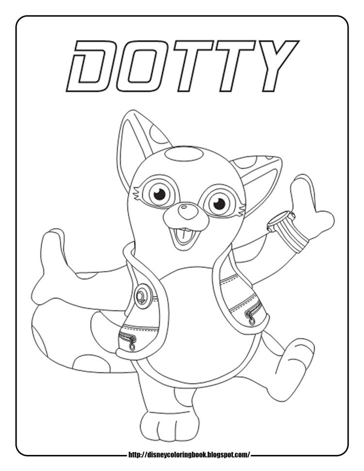 Disney Junior Coloring Pages Dotty