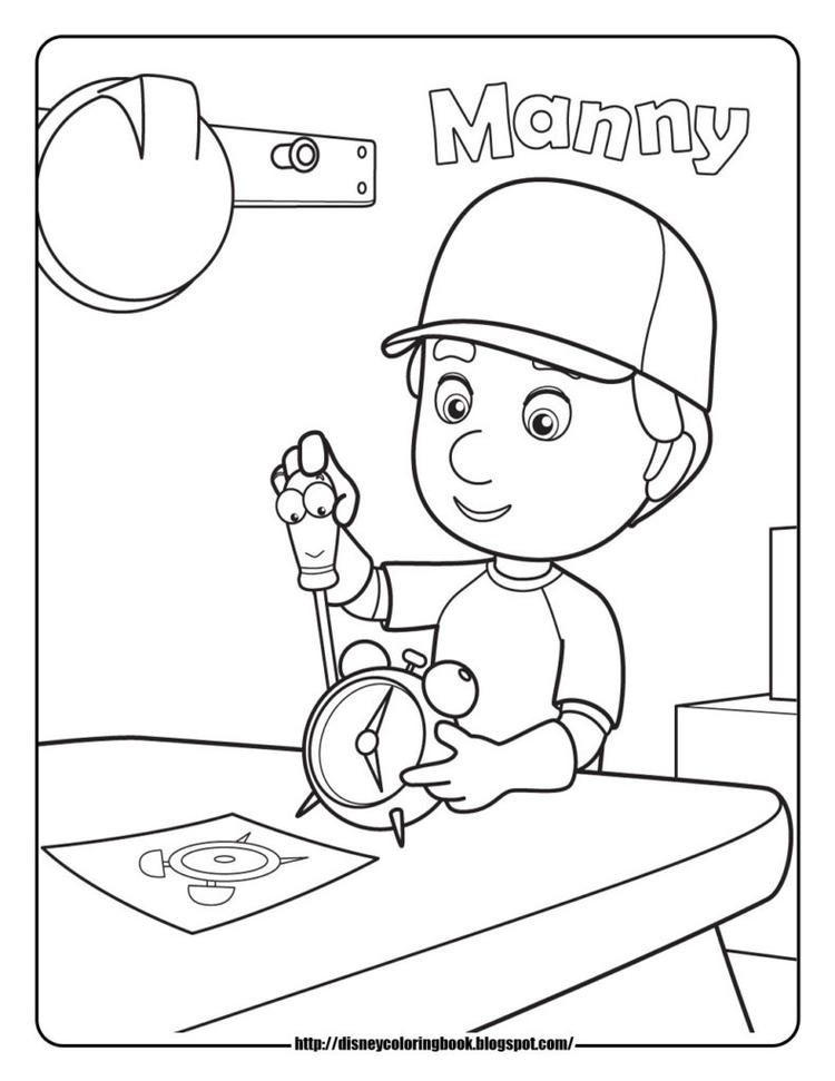 Disney Junior Coloring Pages Handy Manny