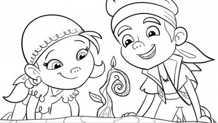 Disney Junior Coloring Pages Jake And The Neverland Pirates