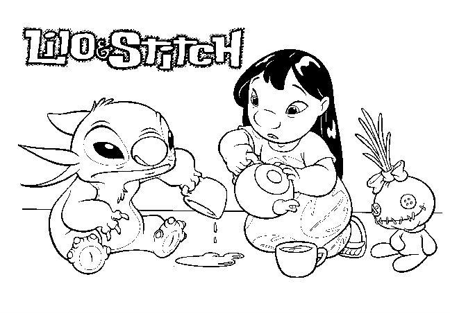 Disney Lilo And Stitch Coloring Pages
