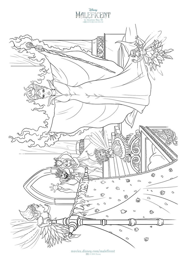 Disney Maleficent Coloring Pages To Print