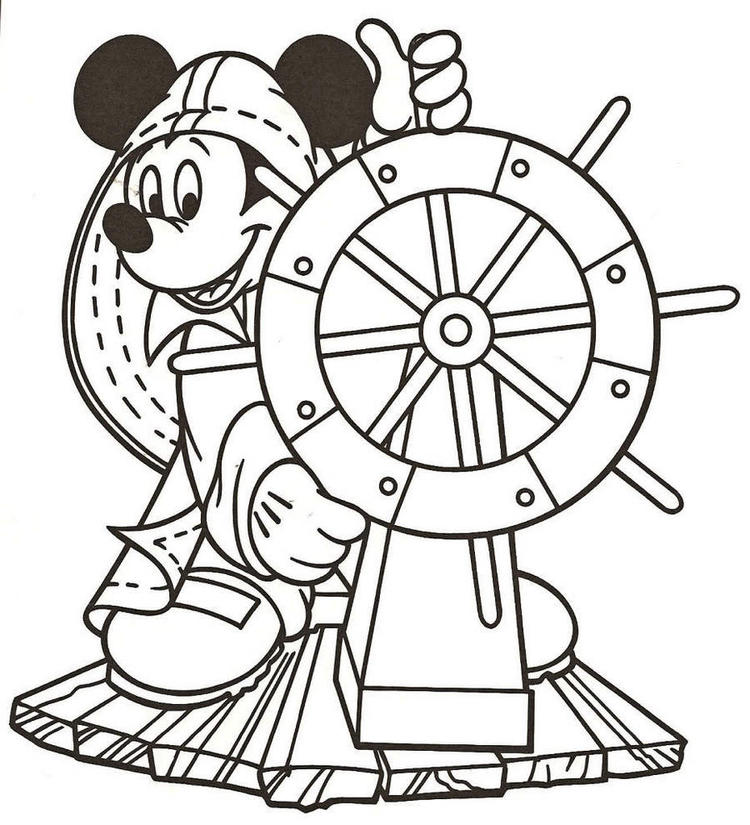 Disney Mikcey Mouse Cruise Coloring Pages
