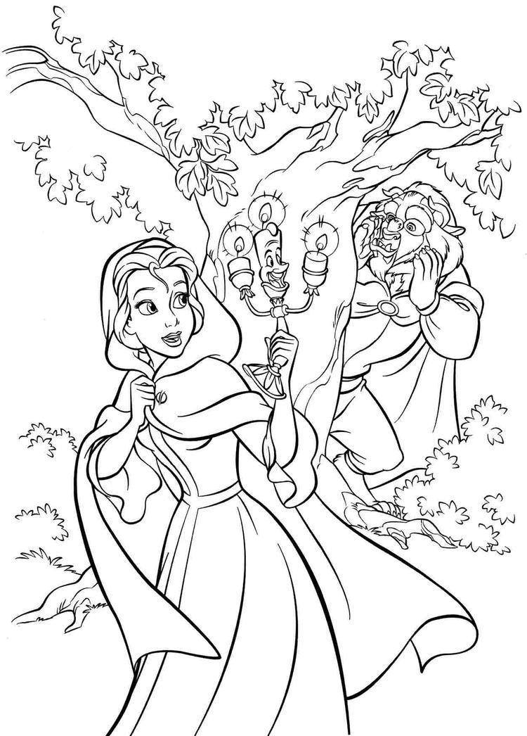 Disney Princess Belle Coloring Pages To Print