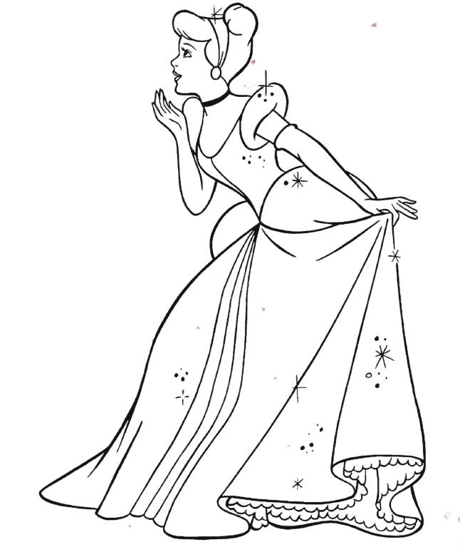 Disney Princess Cinderella Coloring Pages For Girls