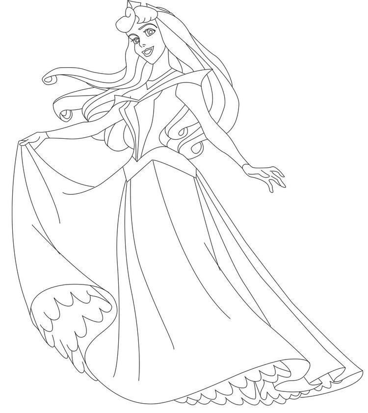 Disney Princess Coloring Pages For Kids Free Coloring Pages