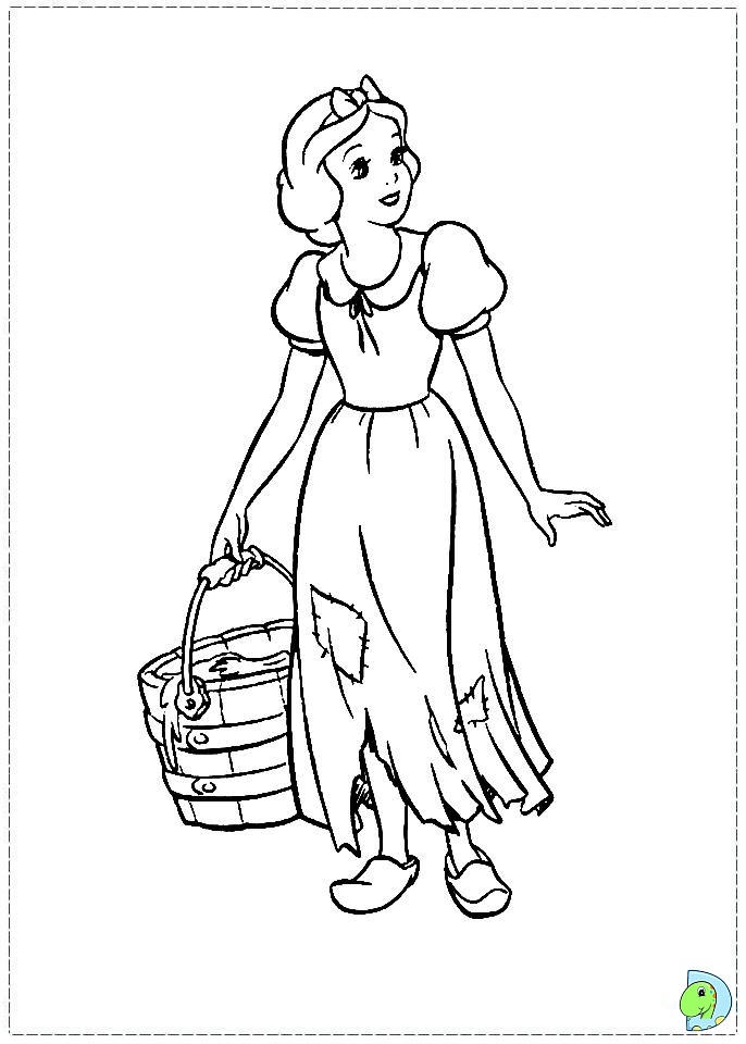 Disney Princess Coloring Pages Snow White For Preschool