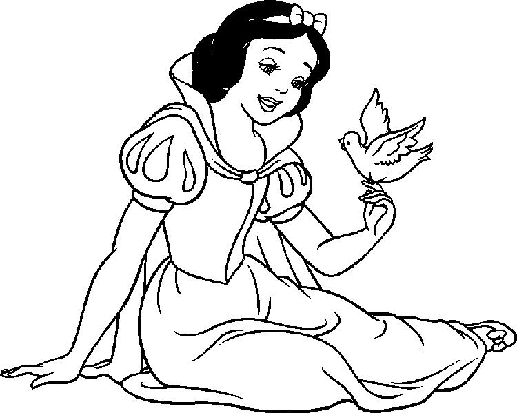 Disney Princess Coloring Pages To Girls