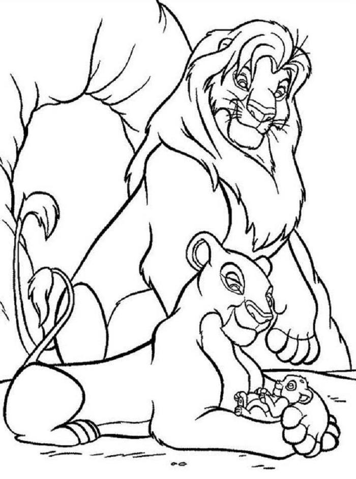 Disney Simba Coloring Pages