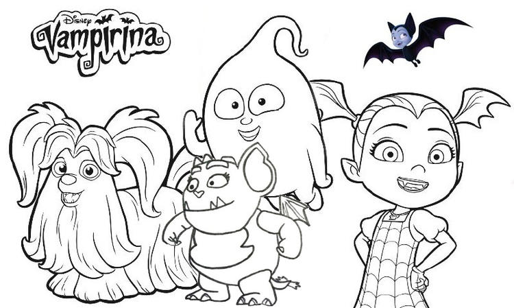 Disney Vampirina Coloring Page Collection