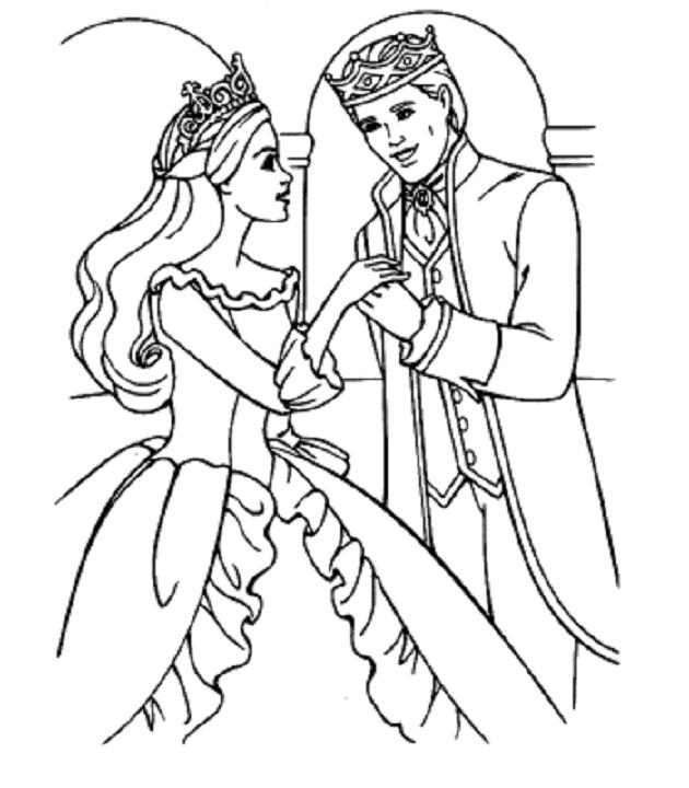 Disney Wedding Coloring Pages For Kids 1
