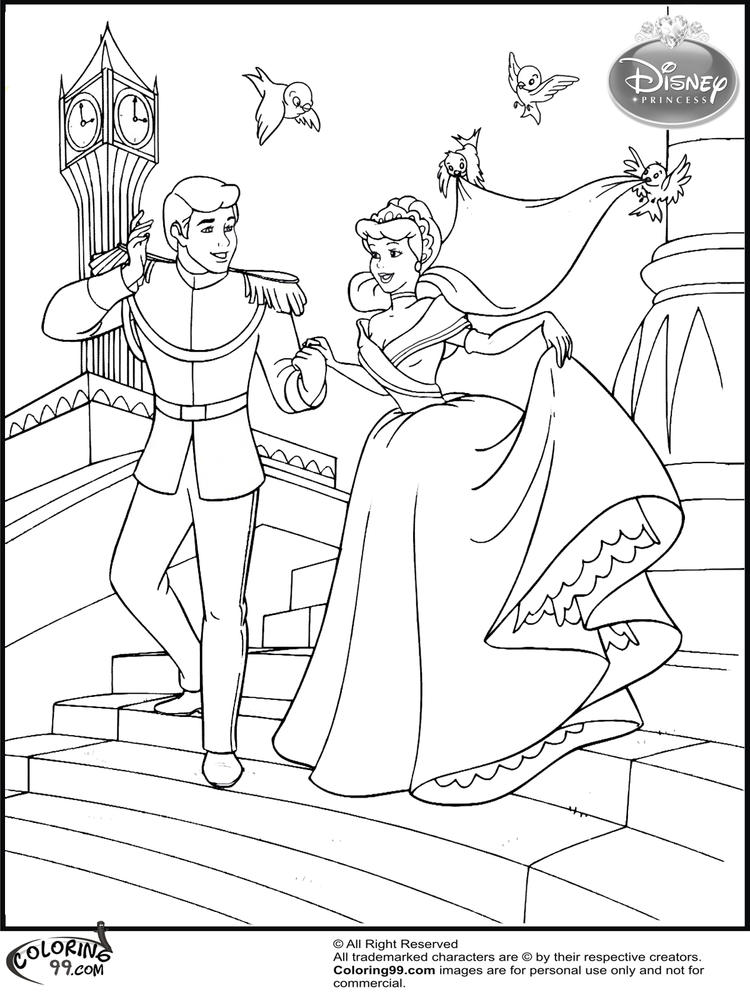 Disney Wedding Coloring Pages For Preschool