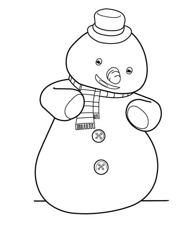 Doc Mcstuffins Coloring Pages Chilly The Snowman