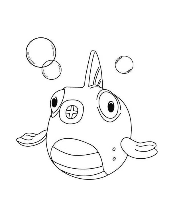Doc Mcstuffins Coloring Pages Squeakers The Fish