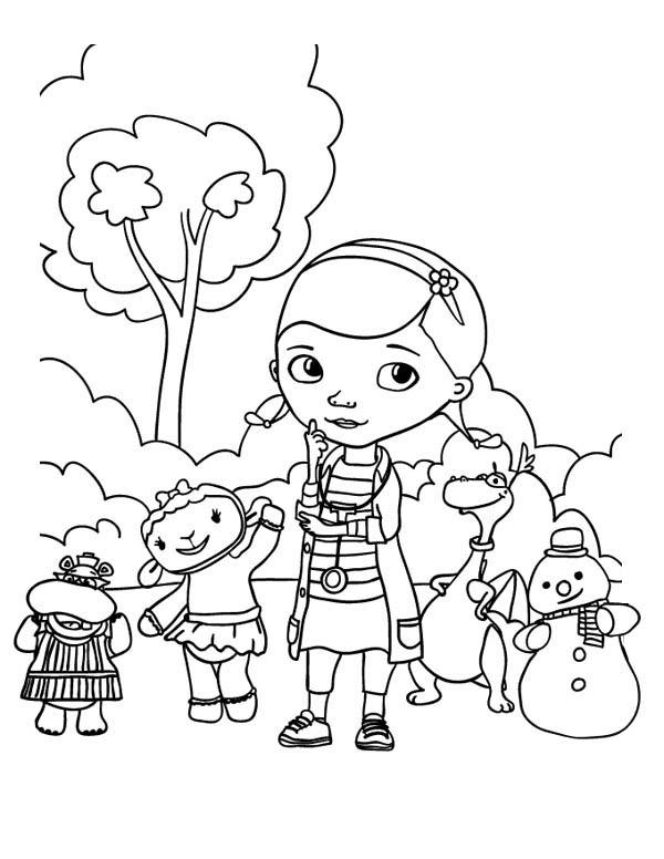 Doc Mcstuffins Coloring Pages To Print