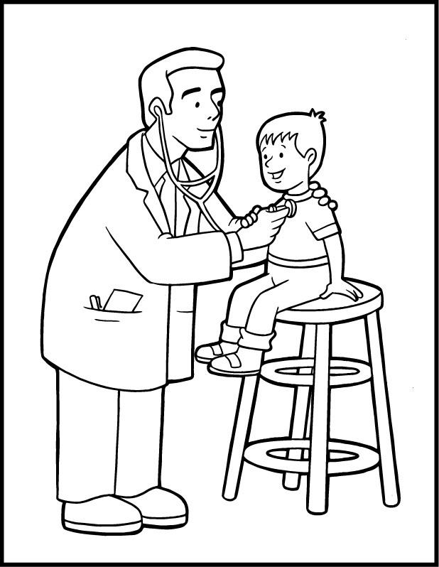 Doctor Community Helpers Coloring Pages